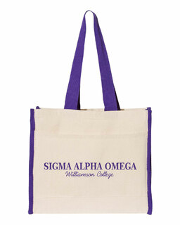 Sigma Alpha Omega Tote with Contrast-Color Handles