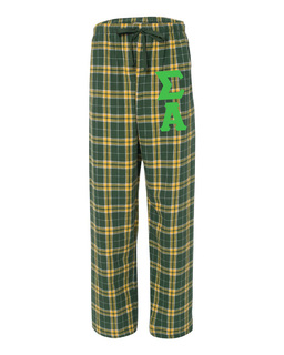 Sigma Alpha Pajamas -  Flannel Plaid Pant