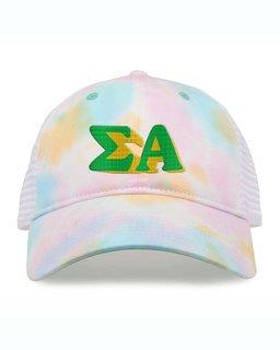 Sigma Alpha Sorority Sorbet Tie Dyed Twill Hat