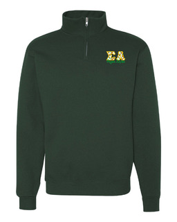 Sigma Alpha Twill Greek Lettered Quarter zip