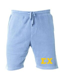 Sigma Chi Pigment-Dyed Fleece Shorts