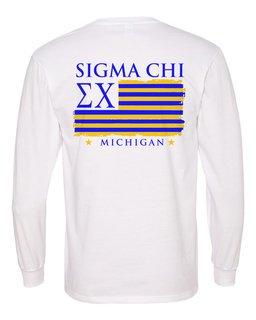 Sigma Chi Stripes Long Sleeve T-shirt