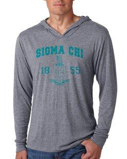 Sigma Chi Unisex Triblend Long-Sleeve Hoodie