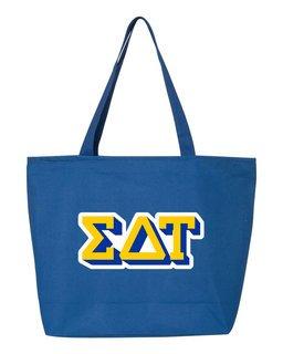 Sigma Delta Tau 3D Letter Tote Bag