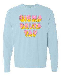 Sigma Delta Tau 3Delightful Long Sleeve T-Shirt - Comfort Colors