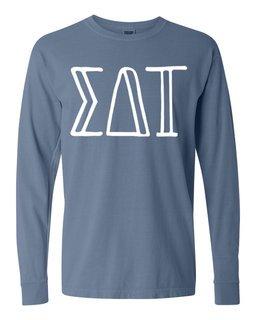Sigma Delta Tau Comfort Colors Greek Long Sleeve T-Shirt