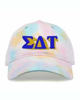 Sigma Delta Tau Sorority Sorbet Tie Dyed Twill Hat