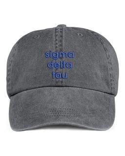 Sigma Delta Tau Stonewashed Cotton Hats