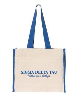 Sigma Delta Tau Tote with Contrast-Color Handles