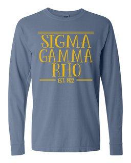 Sigma Gamma Rho Comfort Colors Custom Long Sleeve T-Shirt