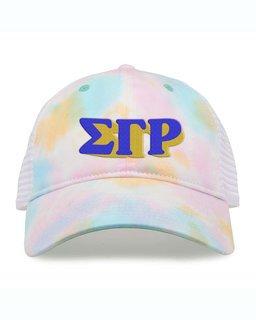 Sigma Gamma Rho Sorority Sorbet Tie Dyed Twill Hat