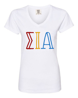 Sigma Iota Alpha Comfort Colors V-Neck T-Shirt