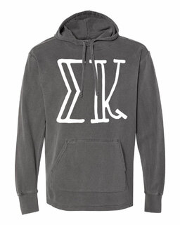 Sigma Kappa Comfort Colors - Terry Scuba Neck Greek Hooded Pullover