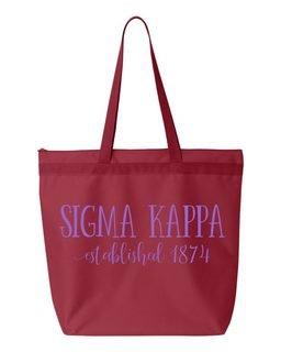 Sigma Kappa Established Tote bag