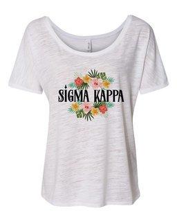 Sigma Kappa Floral Tribal Slouchy Tee