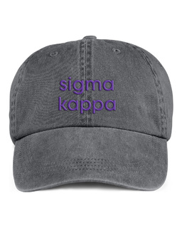 Sigma Kappa Stonewashed Cotton Hats
