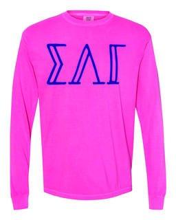 Sigma Lambda Gamma Comfort Colors Greek Long Sleeve T-Shirt