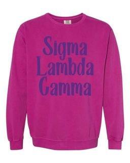 Sigma Lambda Gamma Comfort Colors Rosie Crew