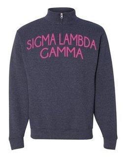 Sigma Lambda Gamma Over Zipper Quarter Zipper Sweatshirt