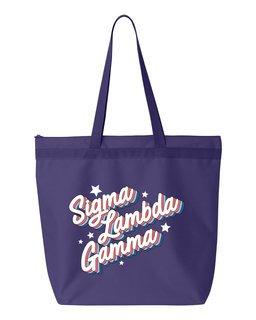 Sigma Lambda Gamma Flashback Tote bag
