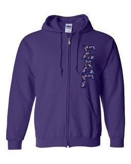 "Sigma Lambda Gamma Lettered Heavy Full-Zip Hooded Sweatshirt (3"" Letters)"