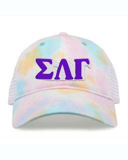Sigma Lambda Gamma Sorority Sorbet Tie Dyed Twill Hat