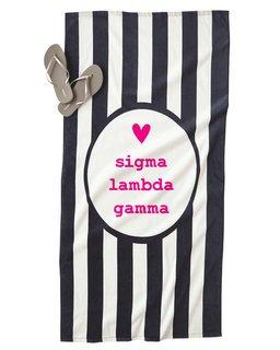 Sigma Lambda Gamma Striped Beach Towel