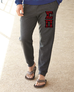 """Sigma Pi Lettered Joggers(3"""" Letters)"""