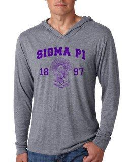 Sigma Pi Unisex Triblend Long-Sleeve Hoodie