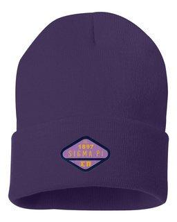DISCOUNT-Sigma Pi Woven Emblem Knit Cap