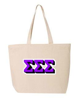 Sigma Sigma Sigma 3D Letter Tote Bag