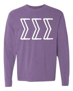 Sigma Sigma Sigma Comfort Colors Greek Long Sleeve T-Shirt