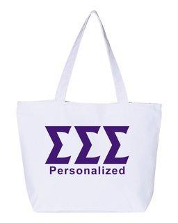 Sigma Sigma Sigma Design Your Own Tote Bag