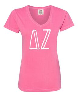Sorority Comfort Colors V-Neck T-Shirt