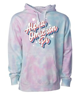 Sorority Cotton Candy Tie-Dyed Hoodie