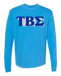 Tau Beta Sigma 3 D Greek Long Sleeve T-Shirt - Comfort Colors