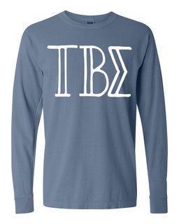 Tau Beta Sigma Comfort Colors Greek Long Sleeve T-Shirt