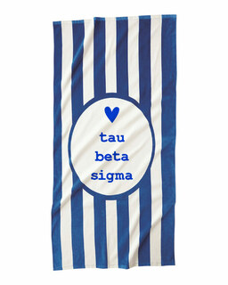 Tau Beta Sigma Striped Beach Towel