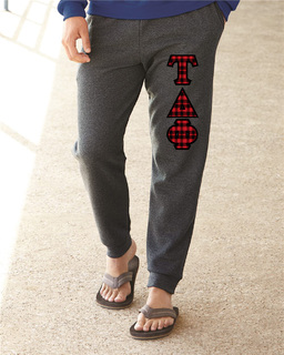 """Tau Delta Phi Lettered Joggers(3"""" Letters)"""