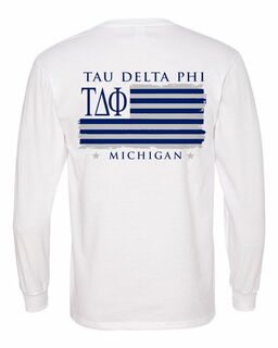 Tau Delta Phi Stripes Long Sleeve T-shirt