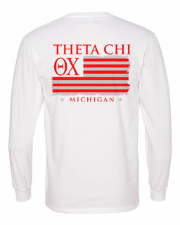 Theta Chi Stripes Long Sleeve T-shirt