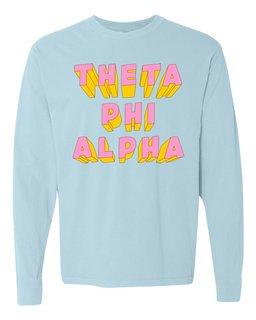 Theta Phi Alpha 3Delightful Long Sleeve T-Shirt - Comfort Colors