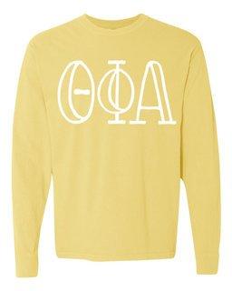 Theta Phi Alpha Comfort Colors Greek Long Sleeve T-Shirt