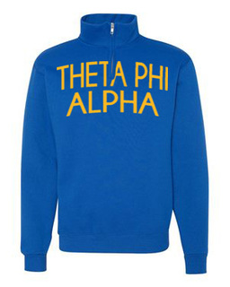 Theta Phi Alpha Over Zipper Quarter Zipper Sweatshirt