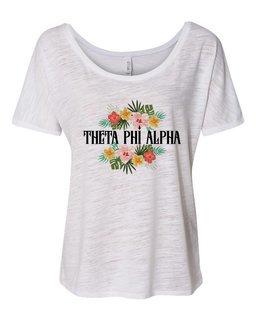 Theta Phi Alpha Floral Tribal Slouchy Tee