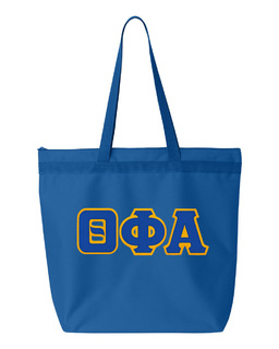 DISCOUNT-Theta Phi Alpha Lettered Game Day Tote