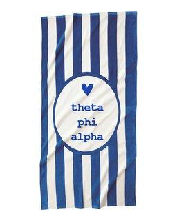 Theta Phi Alpha Striped Beach Towel