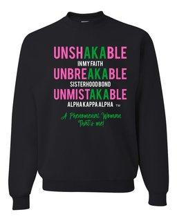 UnshAKAable, UnbreAKAble & UnmistAKAble Crewneck Sweatshirt
