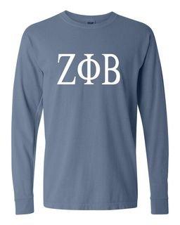 Zeta Phi Beta Comfort Colors Greek Long Sleeve T-Shirt