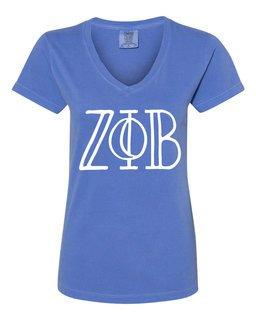 Zeta Phi Beta Comfort Colors V-Neck T-Shirt